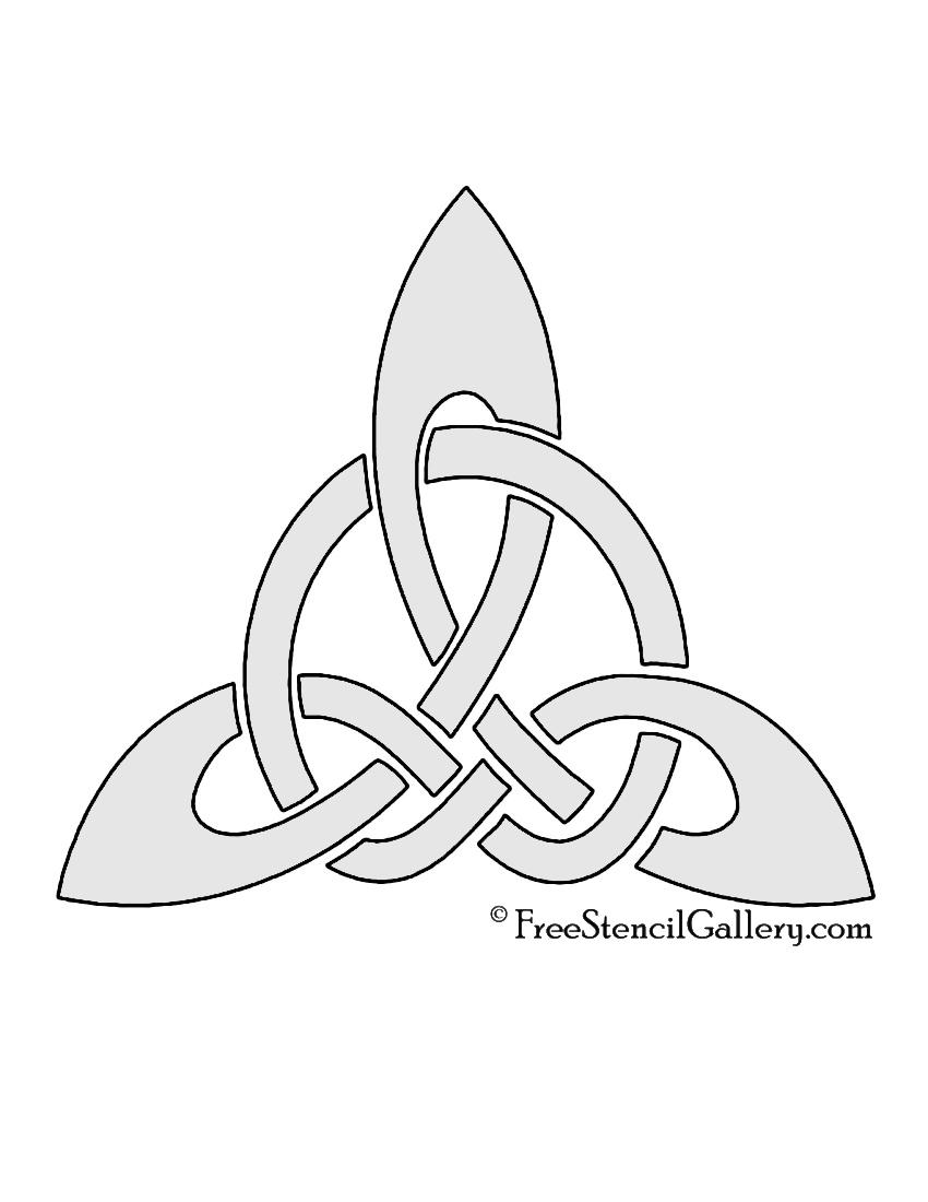 Celtic Knot - Triangle Stencil | Free Stencil Gallery