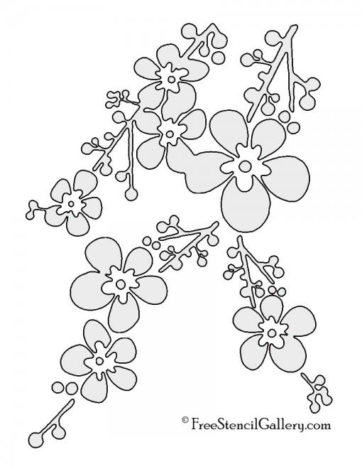 Cherry Blossom Stencil