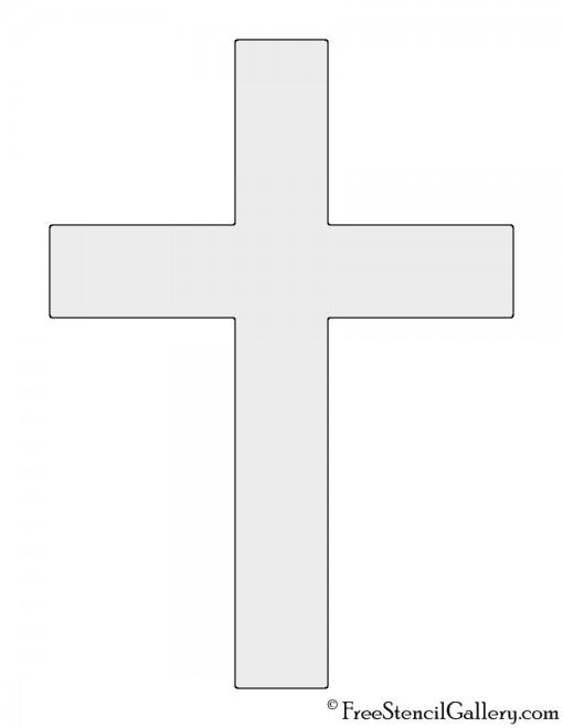 Christian Cross Stencil