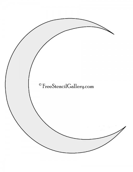 Crescent Moon Stencil Free Stencil Gallery