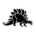 Dinosaur - Stegosaurus Stencil