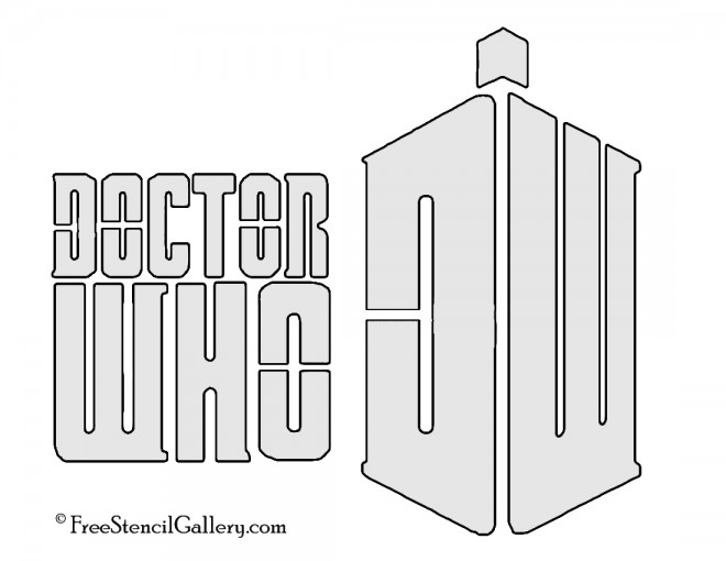 Doctor Who Logo Stencil