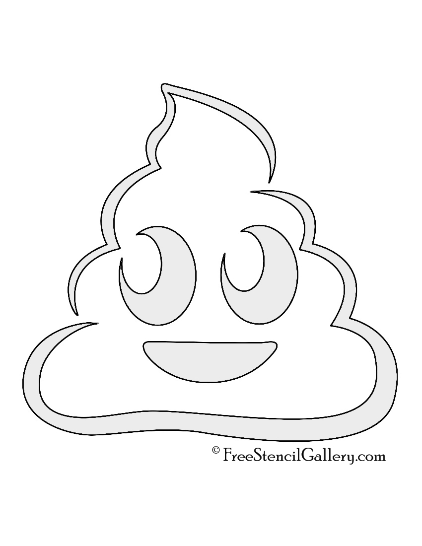 Emoji - Poop Stencil | Free Stencil Gallery