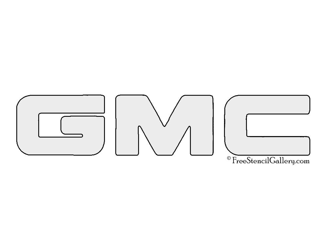 gmc logo black and white. gmc logo stencil gmc black and white e