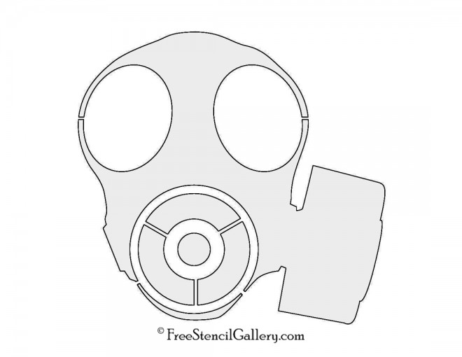 Gas Mask 02 Stencil