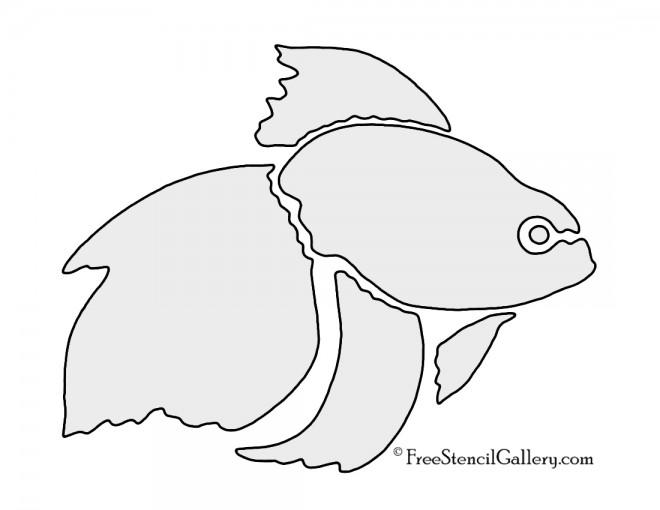 Goldfish Stencil