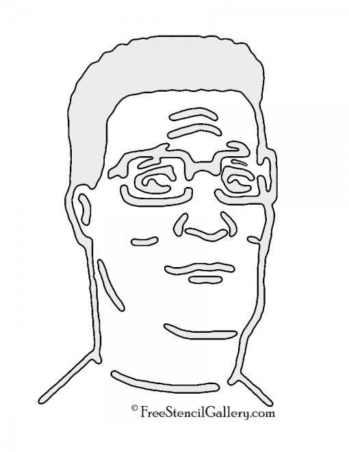 Hank Hill Stencil