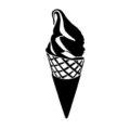 Ice Cream Cone Stencil