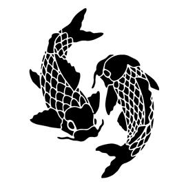 koi fish stencil free stencil gallery