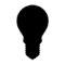 Light Bulb Silhouette Stencil