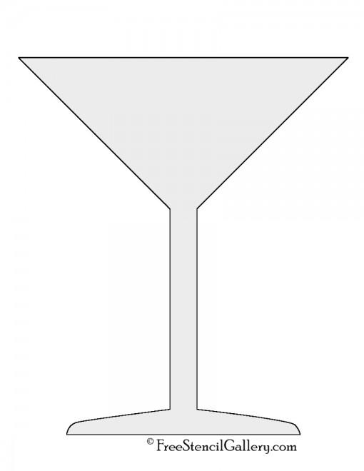 Martini Glass Stencil