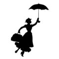 Mary Poppins Stencil
