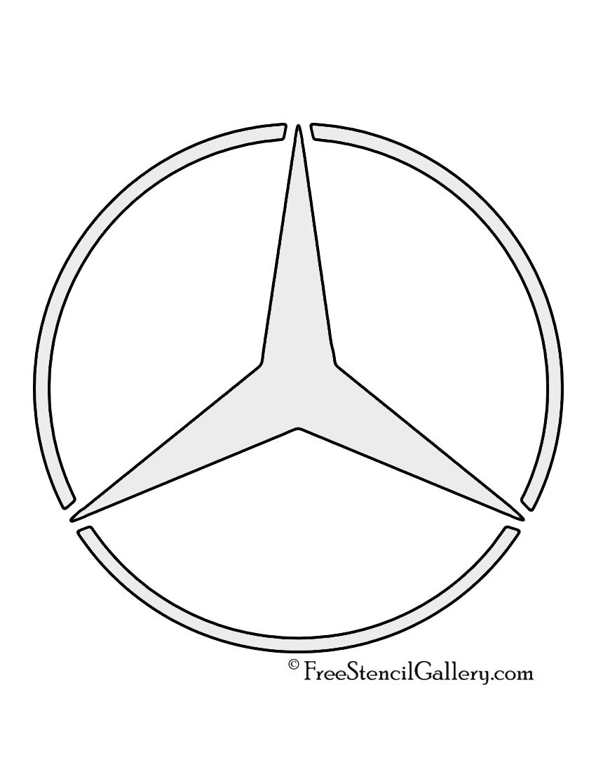 Mercedes benz logo stencil free stencil gallery mercedes benz logo stencil biocorpaavc
