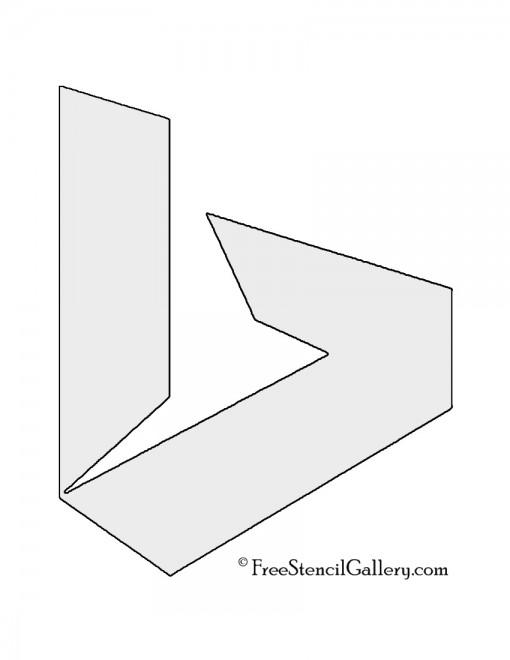 Microsoft Bing Logo Stencil