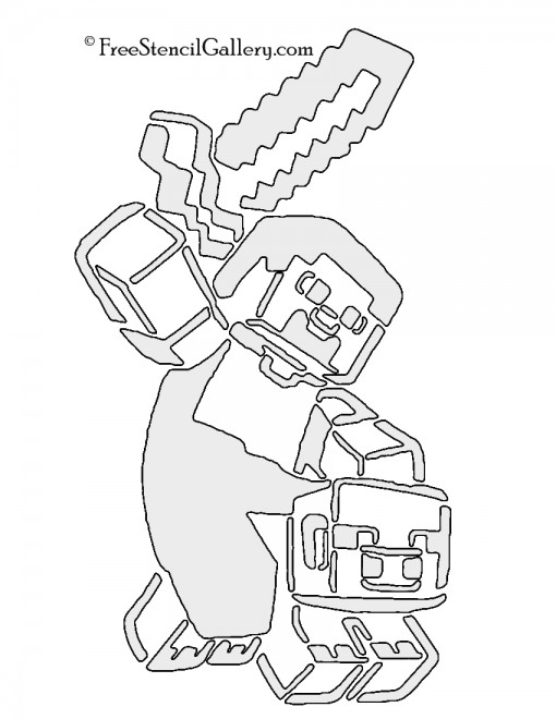 Minecraft Stencil