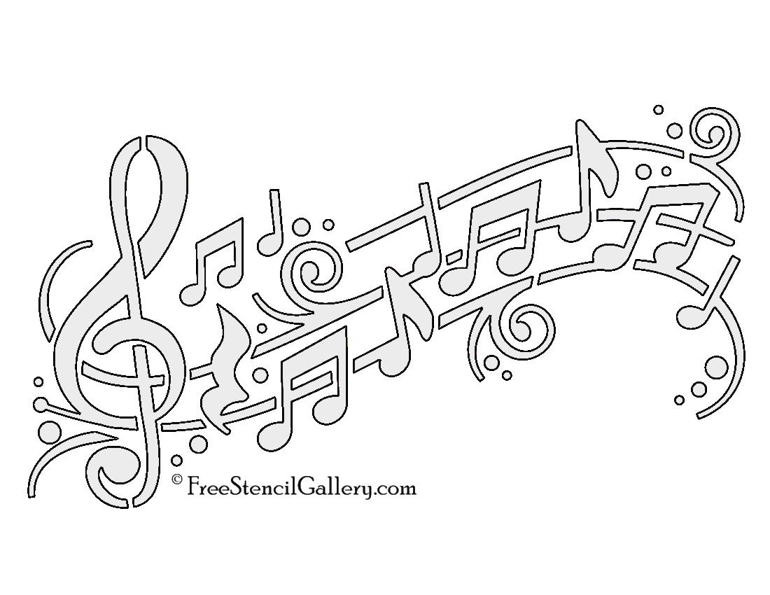 music note stencils printable - Ideal.vistalist.co