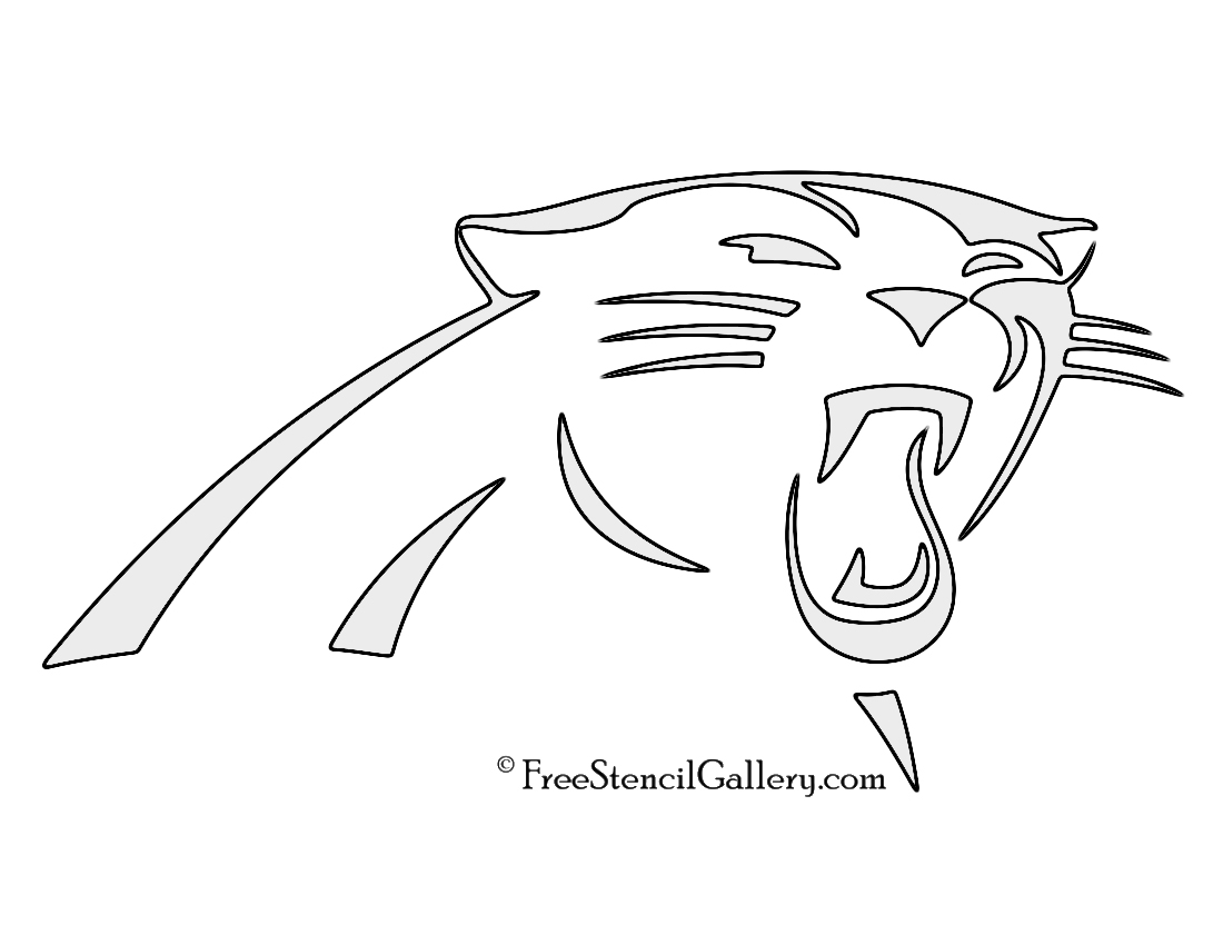 NFL Carolina Panthers Stencil | Free Stencil Gallery