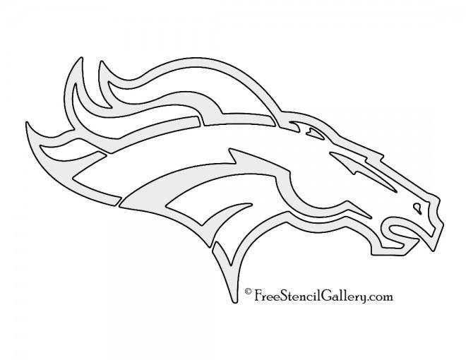 NFL Denver Broncos Stencil