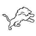 NFL Detroit Lions Stencil