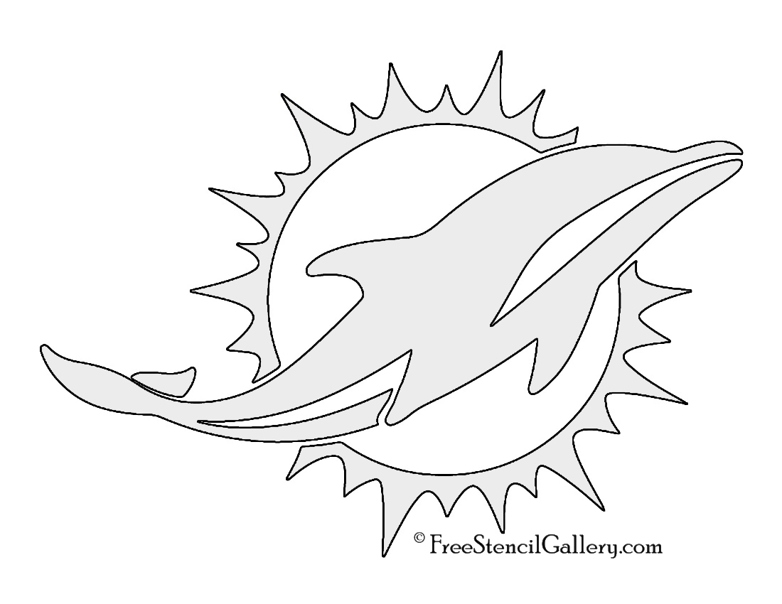 nfl miami dolphins stencil free stencil gallery