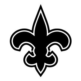 New Orleans Saints Logo Black