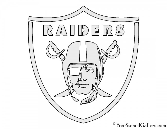 Nfl oakland raiders stencil free gallery