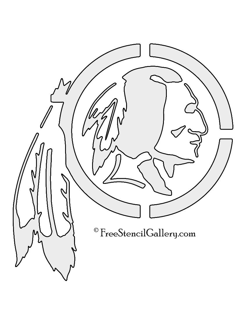 Washington redskins logo coloring pages