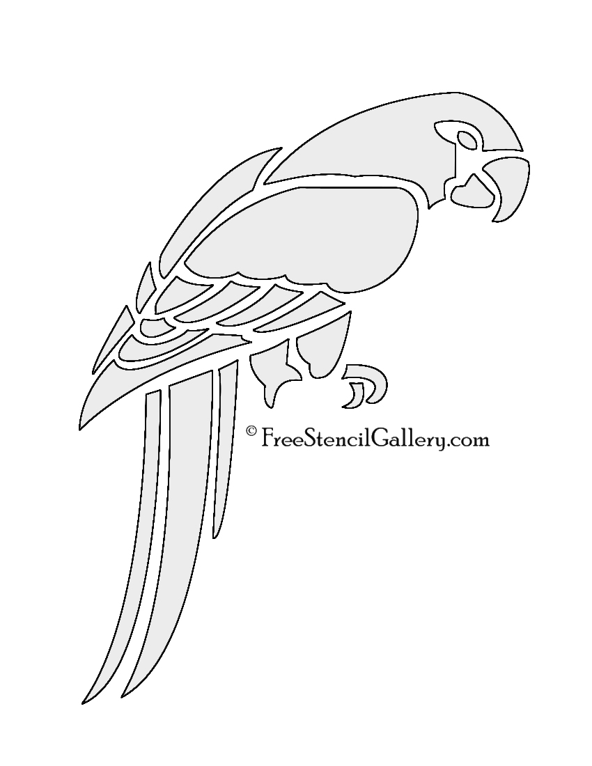 parrot stencil free stencil gallery