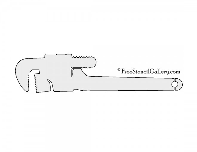 Pipe Wrench Stencil