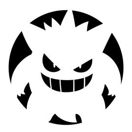 Pokemon Gengar Stencil Free Stencil Gallery