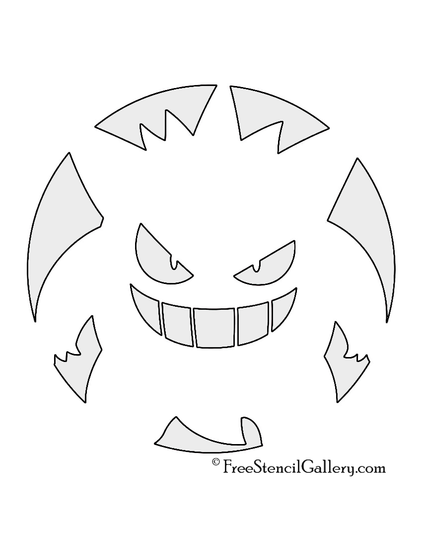 Pokemon gengar stencil free stencil gallery for Pokemon jack o lantern template