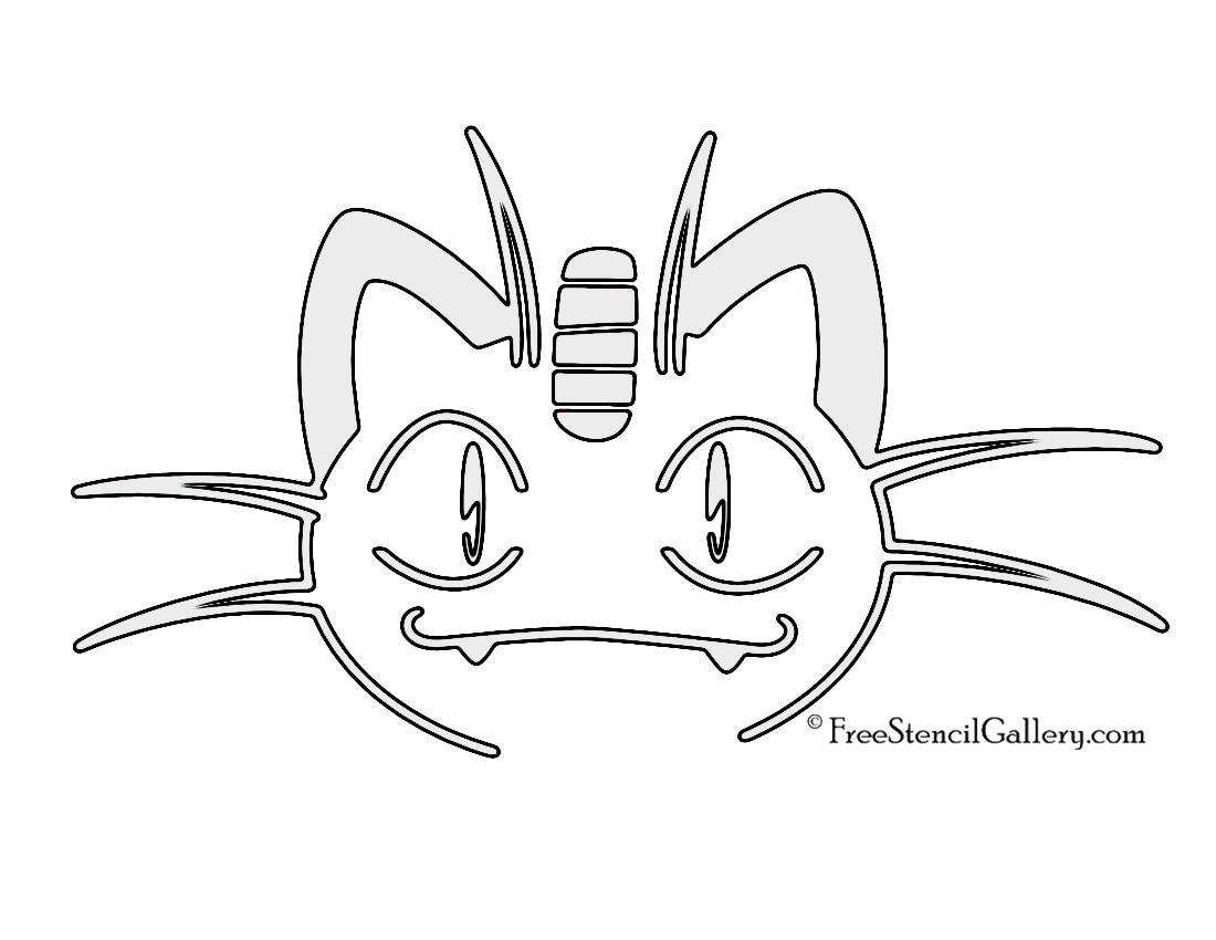 pokemon meowth stencil free stencil gallery