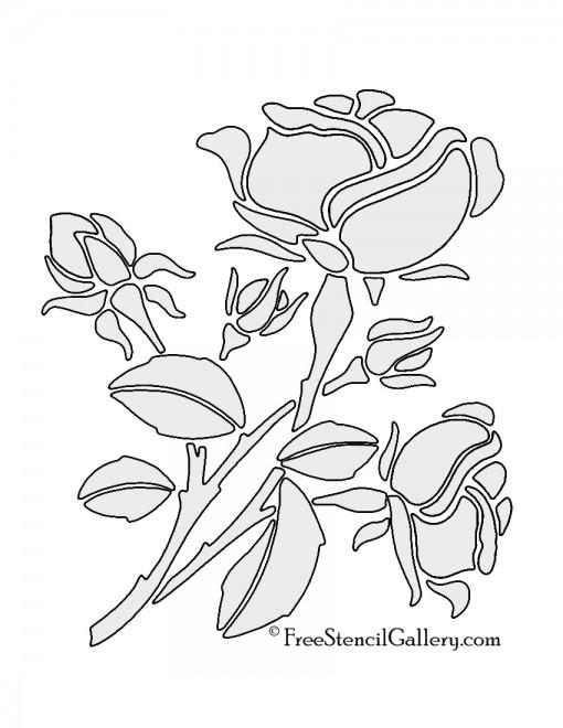 Rose Stencil