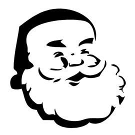 Santa Claus Stencil Free Stencil Gallery