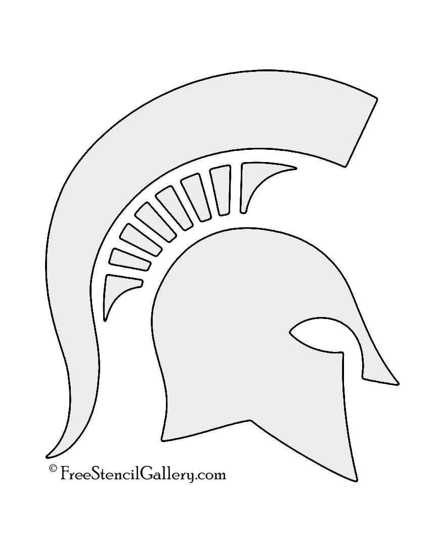 Spartan helmet stencil free stencil gallery for Spartan mask template