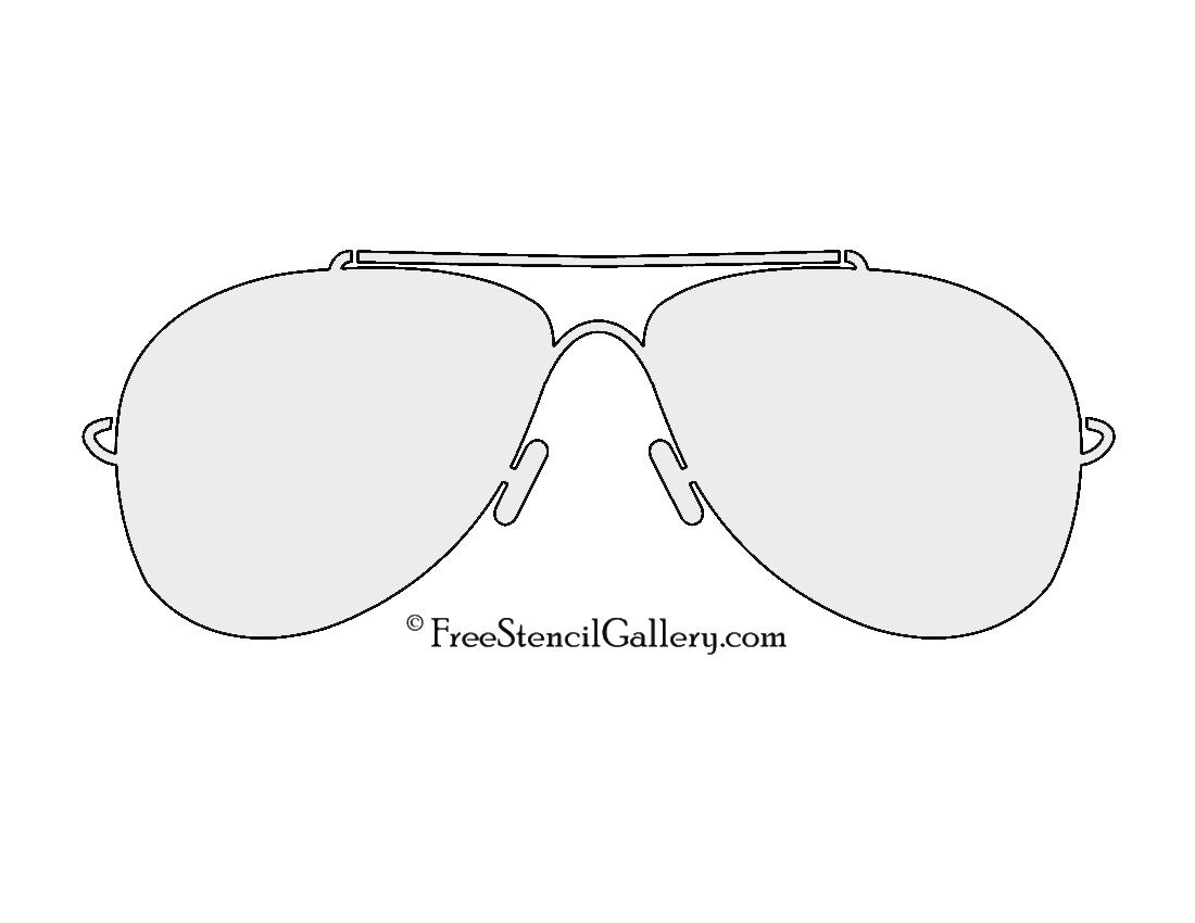 Sunglasses stencil free stencil gallery for Sunglasses coloring page