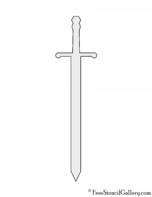 Sword Stencil