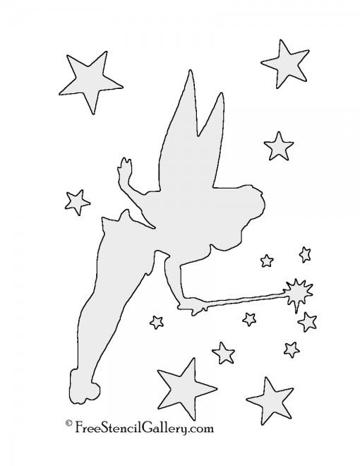 Tinkerbell 01 Stencil