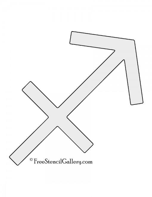 Zodiac - Sagittarius Stencil