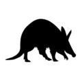 Aardvark Silhouette Stencil