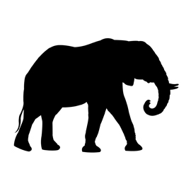 african elephant silhouette stencil free stencil gallery