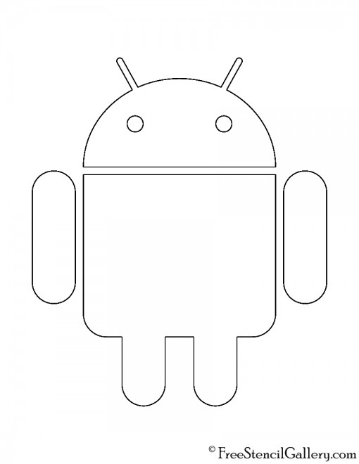 Android Logo Stencil