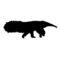 Anteater Silhouette Stencil
