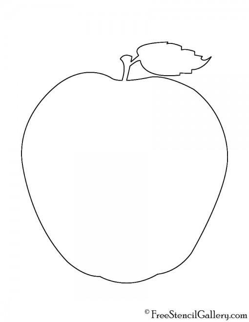 Apple Silhouette Stencil