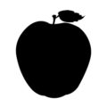 Apple Silhouette Stencil