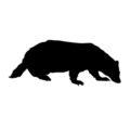 Badger Silhouette Stencil