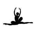 Ballerina Silhouette 02 Stencil