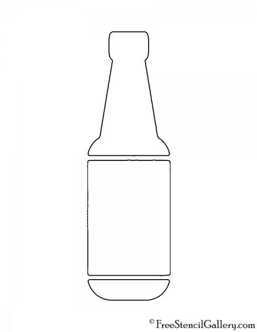Beer Bottle Stencil