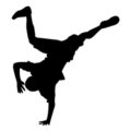 Break Dancer Silhouette Stencil