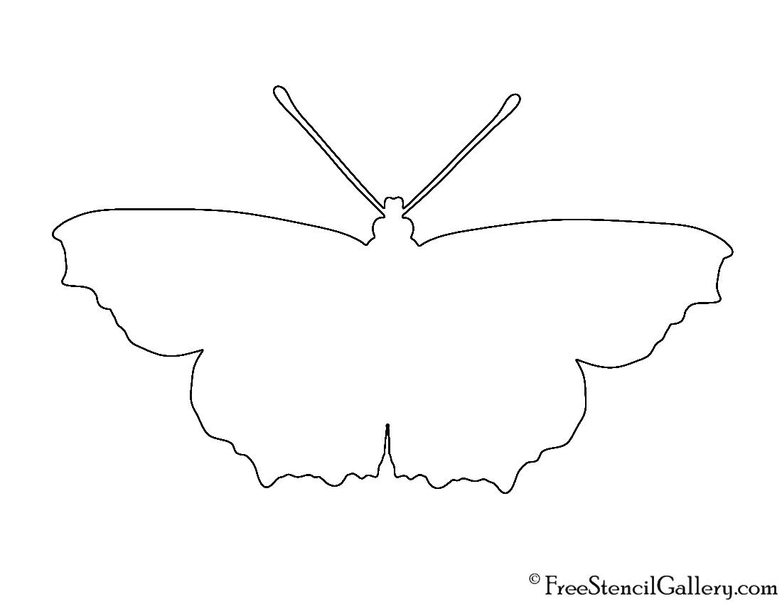 butterfly silhouette stencil free stencil gallery